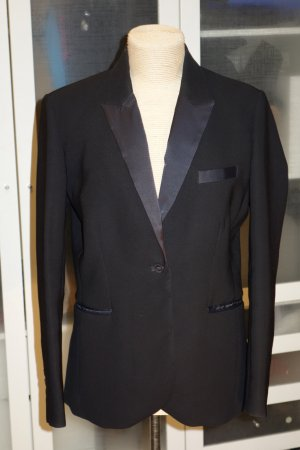 Org. BY MALENE BIRGER Smoking Jacket/Blazer Einreiher in schwarz Gr.44