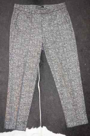 Org. CAMBIO Krystal Woll-Hose mit Bundfalten Melange Muster Gr.38