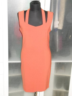 Org. CARTOON vintage Kleid orange mit cut outs Gr.36