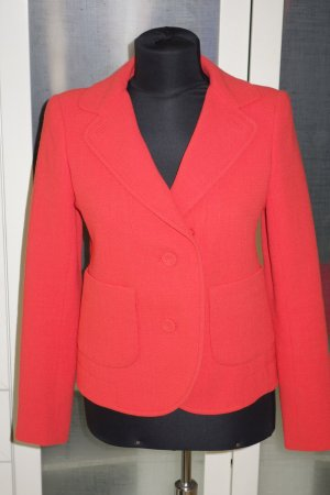Org. CARVEN Blazer Gr.34 neon-orange Wolle