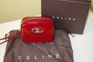 Org. CELINE Clutch aus Lackleder rot NEU+Karton+Dustbag