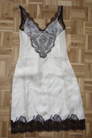 Org. CELINE Runway silk dress mit Spitze und Top Gr.34
