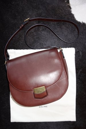 Org. CELINE Trotteur Medium Crossbody bag kastanienbraun inkl. Dustbag