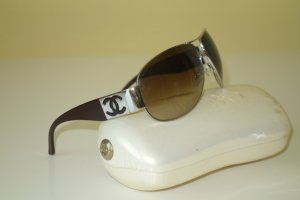 Chanel Sunglasses dark brown-silver-colored
