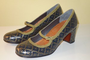 Org. CHIE MIHARA Mary-Jane Pumps mit Muster NEU Gr.38,5
