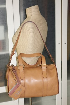 Org. CHLOE big bowling bag in hellbraun Leder Inkl. Dustbag