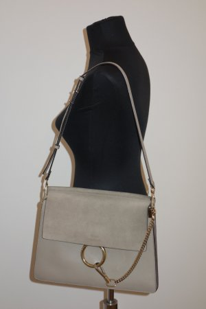 Chloé Shoulder Bag grey-grey brown leather