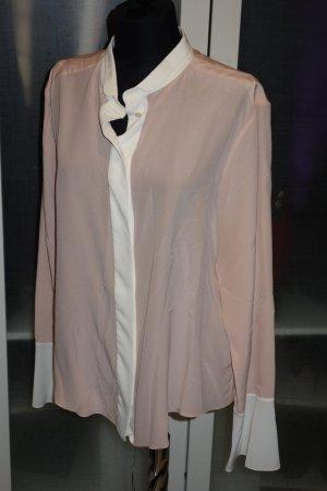 Chloé Blouse en soie rose chair-blanc soie
