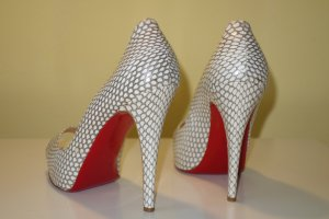 Org. CHRISTIAN LOUBOUTIN Very Prive Plateau Peeptoes aus Echsenleder Gr.40