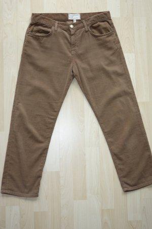 Current/elliott Pantalone di velluto a coste marrone Cotone