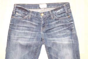 Current/elliott Straight Leg Jeans dark blue cotton