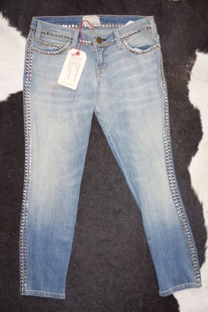 Org. CURRENT ELLIOTT The Crop Skinny mit Nieten sold out Gr.26 NEU+Etikett