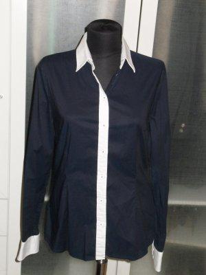 Org. D&G Dolce&Gabbana Bluse blau/weiss 38/40