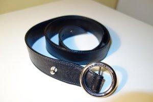 Dolce & Gabbana Cinturón de cuero negro Cuero