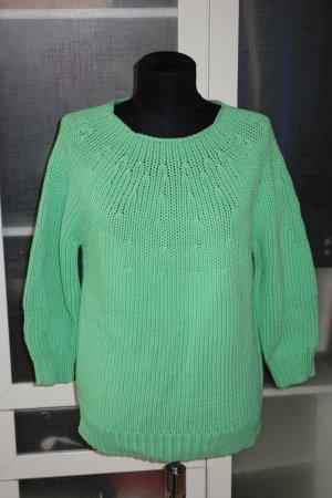 Org. DIANE von FÜRSTENBERG Grobstrick-Pullover grün Gr.M