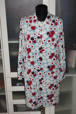 Org. DIANE von FÜRSTENBERG Hemdblusenkleid aus Seide mit Print