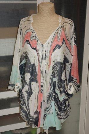 Org. DIANE von FÜRSTENBERG Kaftan-Kleid aus Seide mit Print Gr.34/36