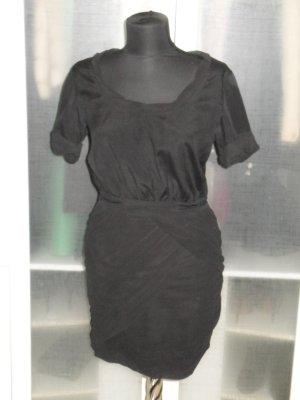 Org. DIANE von FÜRSTENBERG Kleid in schwarz mit Raffungen Gr.34