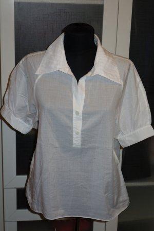 Org. DIANE von FÜRSTENBERG Kurzarm-Bluse in weiß Gr.36