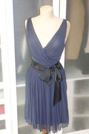 Diane von Furstenberg Wraparound dark blue silk