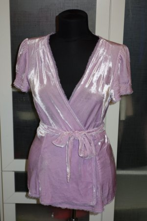 Diane von Furstenberg Blusa cruzada violeta