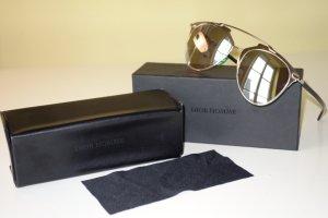 Dior Occhiale da sole ovale nero-grigio chiaro