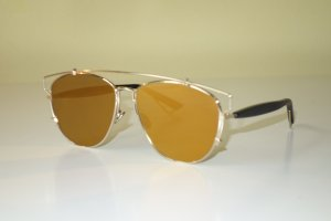 Dior Oval Sunglasses gold-colored-black