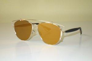 Dior Occhiale da sole ovale oro-nero
