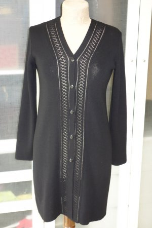 Org. DKNY long Strickjacke schwarz mit cut out Muster