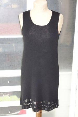 Org. DKNY Strickkleid in schwarz mit cut out Details Gr.M