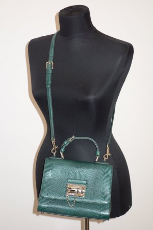 Dolce & Gabbana Crossbody bag dark green leather
