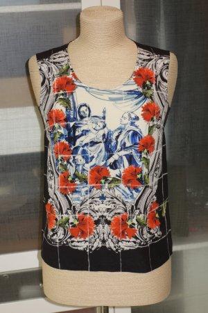 Dolce & Gabbana Haut en soie multicolore soie