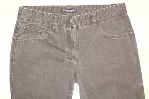 Dolce & Gabbana Tube Jeans grey brown
