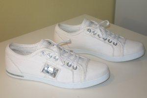 Org. DOLCE & GABBANA black label Sneaker aus Canvas weiß Gr.39,5