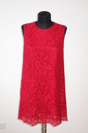 Org. DOLCE & GABBANA black label Spitzen-Kleid in rot Gr.34