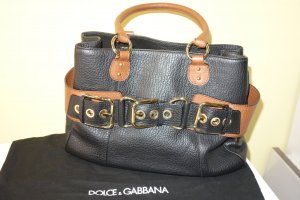 Dolce & Gabbana Handbag black-light brown leather