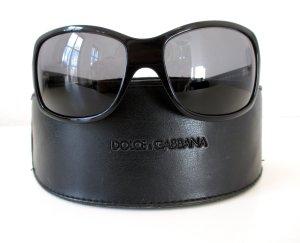 """Org. Dolce & Gabbana Sonnenbrille """"Black Label""""/Schwarz / Vollrand / Kunststoff"""