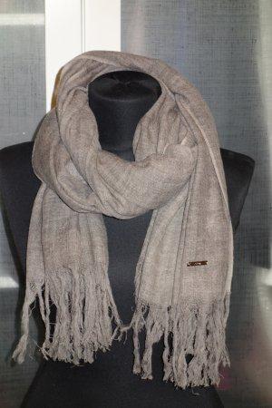 Org. DONDUP Woll-Schal aus Schurwolle in grau-braun