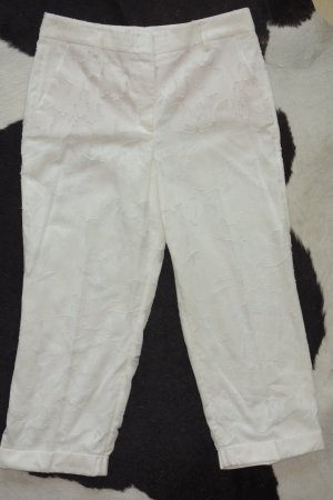 Org. DOROTHEE SCHUMACHER Culotte/Pants mit weitem Bein weiß gemustert Gr.40