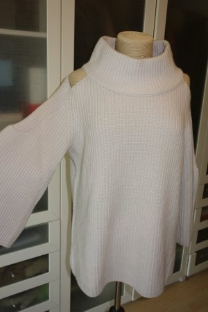 Org. DOROTHEE SCHUMACHER Grobstrick-Pullover aus Kaschmir mit cut outs in creme Gr.40
