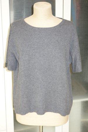Dorothee Schumacher Short Sleeve Sweater dark grey cashmere