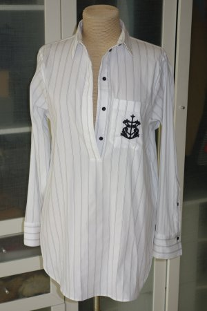 Org. DOROTHEE SCHUMACHER long Tunika Bluse mit Streifen und Bestickung Gr.36