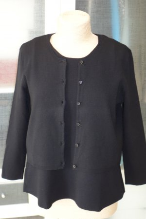 Org. DOROTHEE SCHUMACHER Twin Set in schwarz perforiert Gr.40
