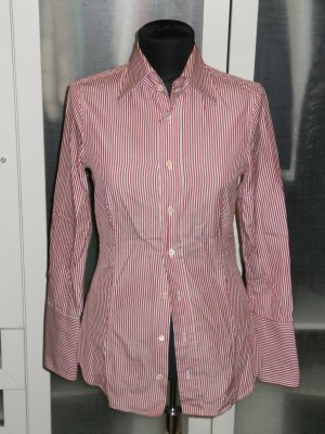 Org. DSQUARED Bluse gestreift Gr.34/36 rot/weiss