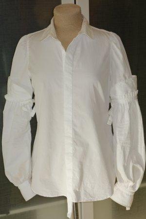 Org. DSQUARED Bluse/Hemd mit Ballonärmel Gr.38 weiß