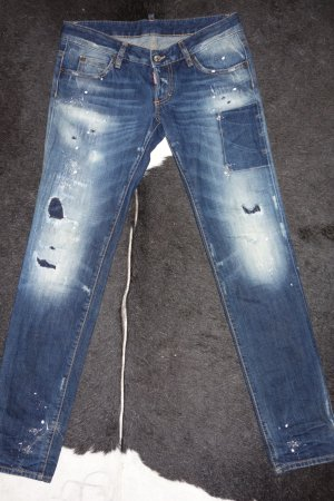 Org. DSQUARED distressed Jeans slim Gr.36