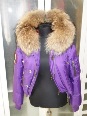 Org. DSQUARED Fighting Dudes Daunen-Bomberjacke lila sold out