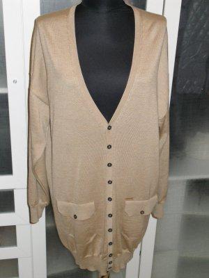 Org. DSQUARED long Cardigan beige/sandbraun Gr.S wie neu