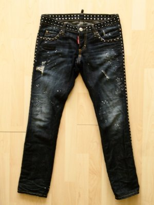 Org. DSQUARED Nieten Jeans 799€ distressed Gr.34 sold out