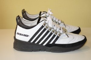 Dsquared2 Lace-Up Sneaker black-white leather